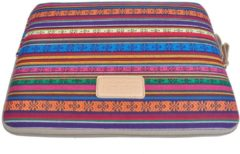 Lisen – Laptop Sleeve tot 15-15.4 inch – 39 x 27,5 x 1,5 cm - Bohemian Style – Multi colour