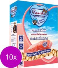 Renske vers vlees zalm graanvrij hondenvoer 10 x 395 gr