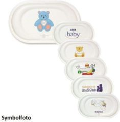 Blauwe HygieneShopBasics Professionele babytafel - Verschoontafel met reling - Oppervlaktebevestiging