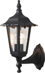 Zwarte Konstsmide Firenze - Wandlamp opwaarts 36cm - 230V - E27 - matzwart