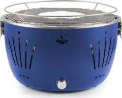 El Fuego Tulsa USB-Tisch-Holzkohlegrill inkl. Tragetasche, blau