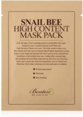Transparante BENTON : Gezichtmasker  Snail Bee High Content  Hydraterend  Anti-ageing  Sheet Mask Pack   20g x 10 stuks