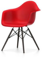 Vitra DAW Gestell schwarz - classic red - Sitzhöhe 43 cm