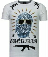 Local Fanatic Freedom Fighter - Rhinestone T-shirt - Wit Freedom Fighter - Rhinestone T-shirt - Blauw Heren T-shirt Maat XL
