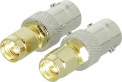 Gouden Valueline SMA Adapter SMA Male - BNC Female Gold