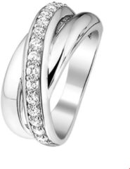 GLAMS The Jewelry Collection Ring Zirkonia - Zilver Gerhodineerd