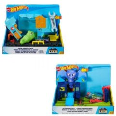 Mattel Hot Wheels Playset City con Creature Mostruose, Assortimento, FNB05