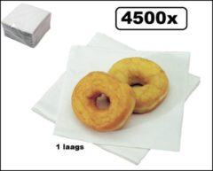 Witte Themaparty 4500x Servetten Papier 1-laags 33x33cm wit