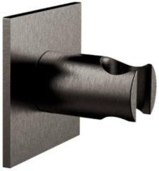Handdouchehouder Herzbach Living Spa PVD-Coating Vierkant Rozet Zwart