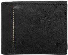 Zwarte DR Amsterdam Waxi Billfold RFID 4cc black Heren portemonnee
