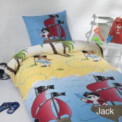 Witte Daydream Day Dream dekbedovertrek Jack - eenpersoons - 140x200 - Blauw