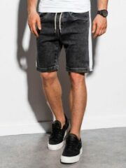 Merkloos / Sans marque Heren - Jeans - Short - Zwart - W221