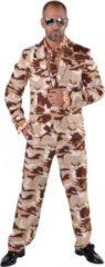 Roze Fun & Feest Party Gadgets Camouflage kostuum 3-delig voor heren 64-66 (2xl)