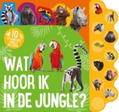Massamarkt Kinderboeken Icob Wilde dieren - Wat hoor ik in de jungle (geluidenboek). 3+