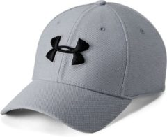 Licht-grijze Under Armour Men's Heathered Blitzing 3.0 Cap 1305037-035, Mannen, Grijs, Cap maat: L/XL
