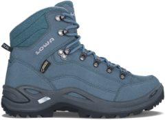 Blauwe Lowa Renegade GTX MID wandelschoenen dames blauw/grijs