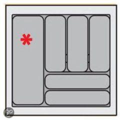 Zilveren Bestekbak Organiser universeel inzetbaar, 451 - 500 mm breed, 441 - 520 mm diep.