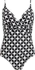 Barts - Women's Lola Shaping Suit - Badpak maat 38, zwart/grijs/wit