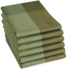 DDDDD Blend theedoek (set van 6) - 100% katoen - Theedoek (60x65 cm) - Set van 6 - Groen
