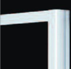 Plieger Class zijwand 3 mm glas 86/90x185 cm aluminium