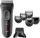 Braun Series 3 3000BT shave & style nat en droog baardtrimmer grijs
