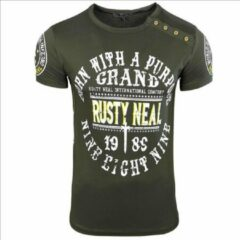 Rusty Neal T-shirt - heren - kaki - 15216