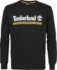Sweater met ronde geribde kraag en lange mouwen. De sweater is gemaakt van 80% katoen en 20% polyester. Voorzien van het Timberland logo op de borst. - Zwart multi - Maat L
