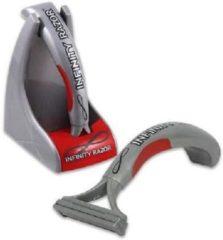 Zilveren Infinity Razor scheerapparaat - Vlijmscherm scheermes