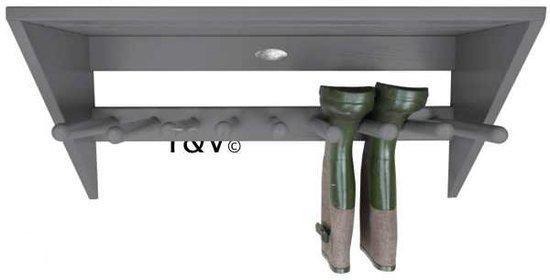 Afbeelding van Grijze Esschert design Muurlaarzenrek grijs