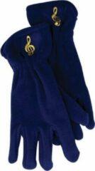 AIM Fleece handschoenen met vioolsleutel, koningsblauw Maat S