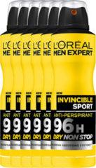L'Oréal Paris Men expert L'Oréal Paris Men Expert Deodorant Invincible Sport – Voordeelverpakking 6 x 150ml – Deodorant Spray