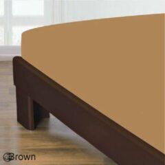 Homee Homéé® Hoeslaken Gladde Katoen - Lichtbruin Camel - 140x200 + 30cm