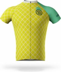 Groene Billy Brewster - Pineapple wielershirt - Fietsshirt Heren - maat S