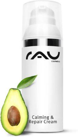 Afbeelding van RAU Cosmetics RAU Calming & Repair Cream - 50 ml - gezichtscrème - anti-age - tegen droge huid en huidirritaties - tegen roodheid - regenererend - hydraterend - egaliserend - met jojoba-olie, avocado-olie, sheabutter, urea, squalaan en panthenol