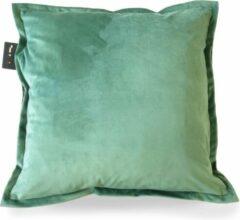Sit & Heat - Warmtekussen Square Groen 50 x 50 cm voor binnen en buiten. [kussen van velours/Velvet/Fluweel]