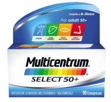 Multicentrum Select 50+ vitamine e minerali completo 90 compresse deglutibili