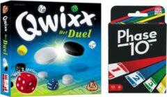 White goblin Spelvoordeelset Qwixx Het Duel & Phase 10 - Kaartspel