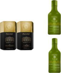 Inoar Moroccan keratine behandeling incl. verzorging ( Argan Oil shampoo en conditioner )