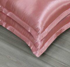 Beauty Silk - Satijnen Kussenslopen Set - Flamingo Roze