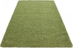 Himalaya Basic Shaggy vloerkleed Groen Hoogpolig- 200x290 CM