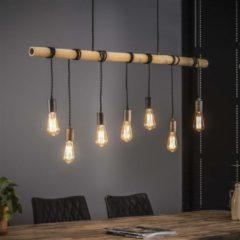 Livin24 Bauhauschairs Industriële Hanglamp Kyra - 7-lichts Bamboe
