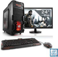 "CSL Gaming PC Set | i7-7700 | GeForce GTX 1060 | 16 GB RAM | 24\"""" TFT »Speed T7762 Windows 10 Home«"