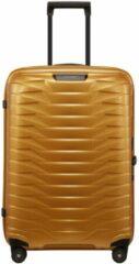 Gouden Samsonite Proxis Spinner 69 honey gold Harde Koffer
