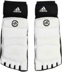 Witte Adidas TKD Voetbeschermer/Sok XS