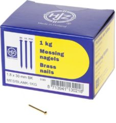 Hjz Messing nagels bombe kop 1.8 x 30mm 1kg