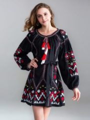 Ethnokleid APART schwarz-multicolor