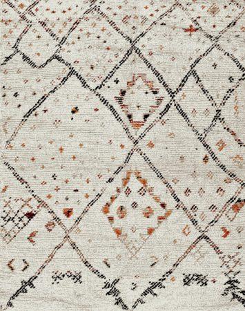 Afbeelding van Creme witte Merinos/karpet24.nl Karpet Marokko 832-62 Crème 80 x 150 cm