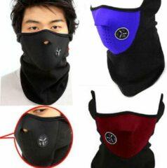 AA Commerce Fleece Bandana Nekwarmer Sjaal - Voor Een Warme Nek - Heren / Dames - Unisex zwart/rood