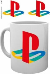 Witte Sony Playstation Colour Logo Mok