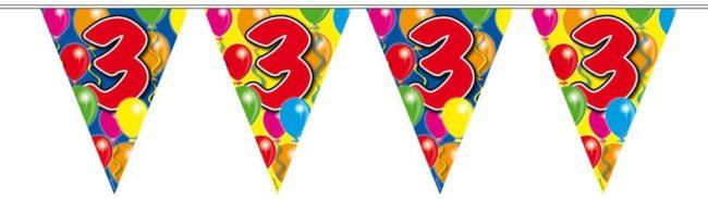 Afbeelding van Amigo Slingers verjaardag 3 jaar ballonnen - 10 meter